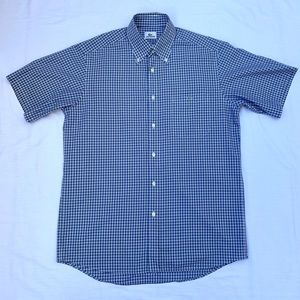 Lacoste Mens Blue Plaid Short Sleeve